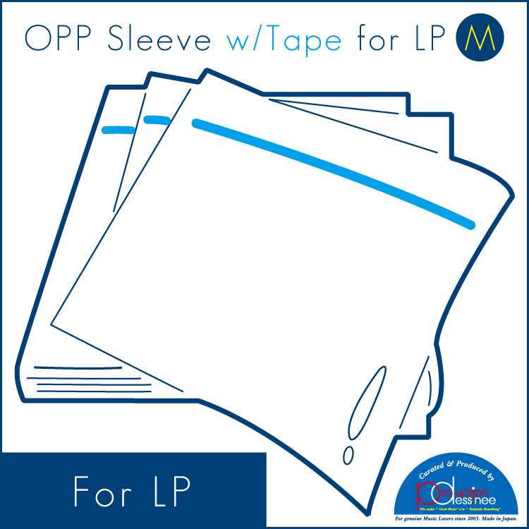 "PDAC-016 production dessinee – OPP Sleeve w/Tape for LP ""M"" 100pcs"
