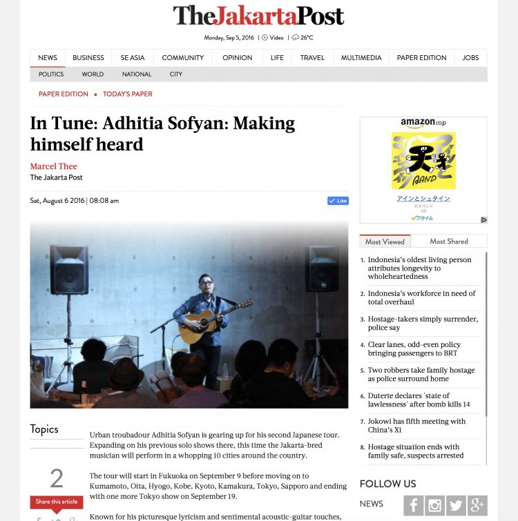 In Tune: Adhitia Sofyan: Making himself heard