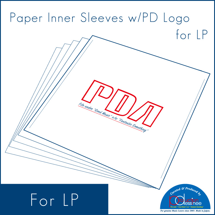PDAC-017 production dessinee – Paper inner sleeves w/Logo for LP