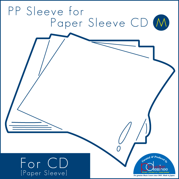 "PDAC-042 production dessinee – PP Sleeve for Paper Sleeve CD ""M"" 100pcs"