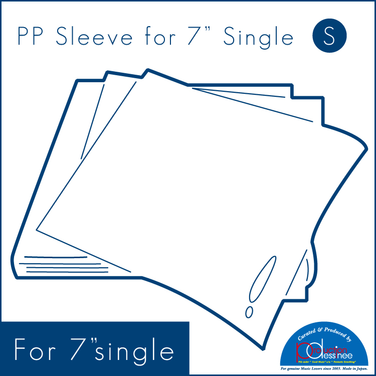 "PDAC-071 production dessinee – PP Sleeve for 7″ ""S"" 100pcs"