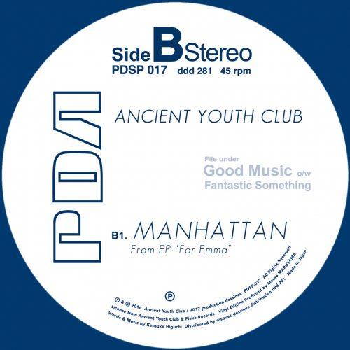 PDSP-017 Ancient Youth Club - Stay c/w Manhattan