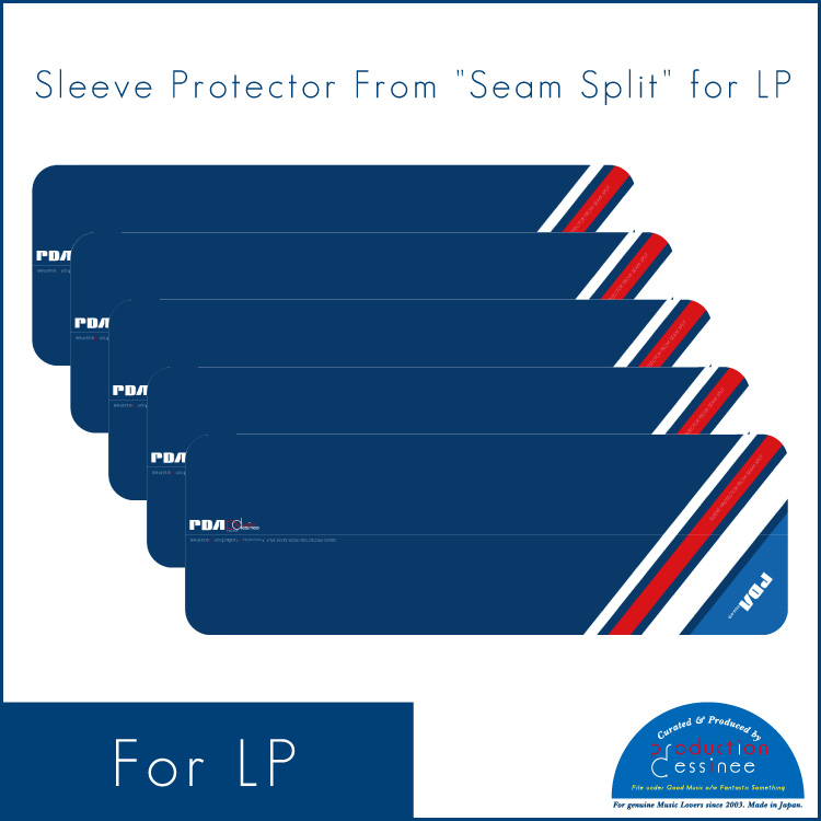 "PDAC-061 production dessinee – Sleeve Protector From ""Seam Split"" for LP ""Navy"" (10pcs)"