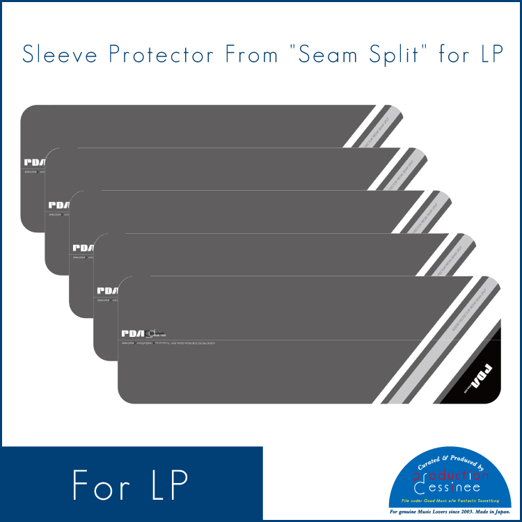 "PDAC-062 production dessinee – Sleeve Protector From ""Seam Split"" for LP ""Grey"" (10pcs)"